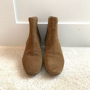 Zara camel suede ankle boots